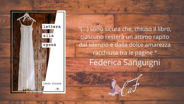 Lettera alla sposa, Licia Allara, recensione, Federica Sanguigni
