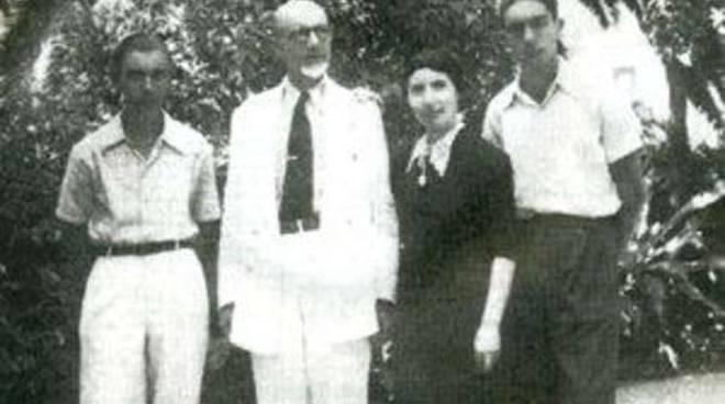 Eva col marito e col figlio Italo
